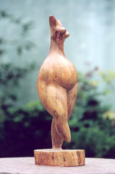 Original wood sculpture entitled Body Form VII - also a limited edition stylized sculpture in bronze