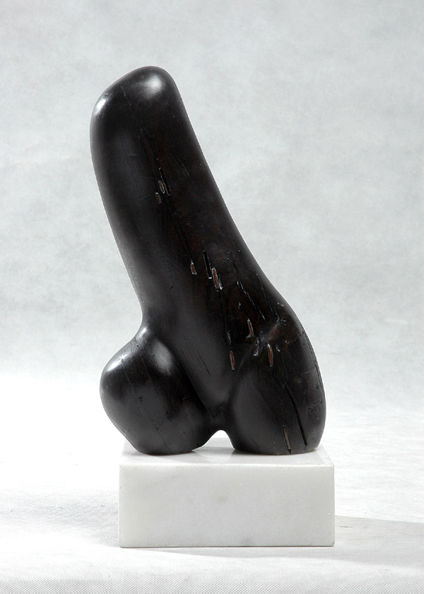 Female Form II - an original wood sculpture, sensual and erotic like much of Chinese sculptor Zhang Yaxi's contemporary artwork