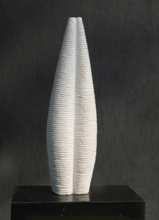small orihabstract sculpture white marble