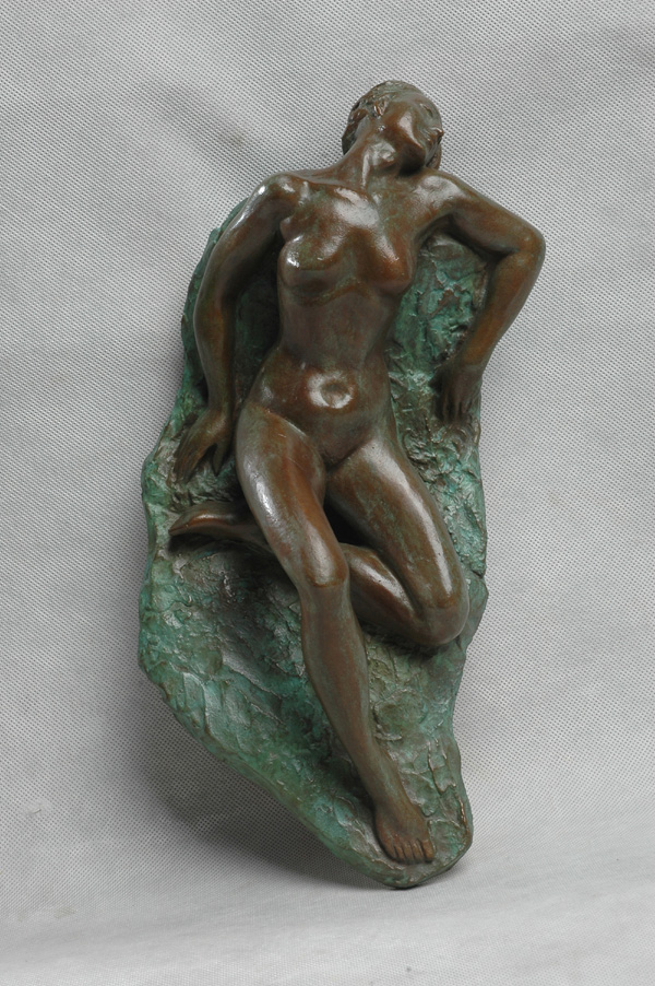 NUDE III - a wall mounted sculpture relief  by Zhang Yaxi