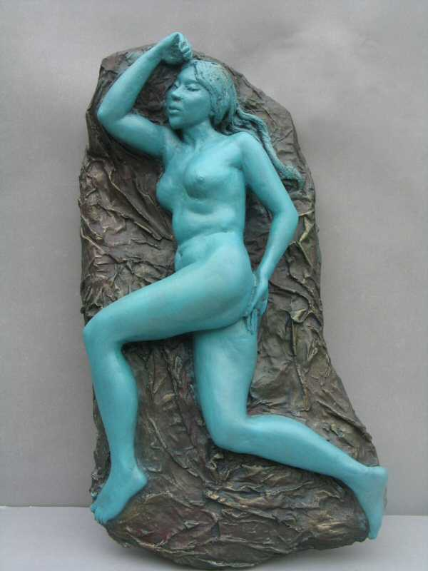 NUDE II - a wall mounted sculpture relief  by Zhang Yaxi