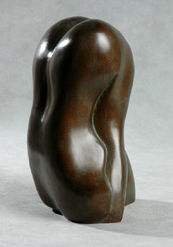 "Click here for larger view and purchase details for ""Abstract Body Form"" a bronze sculpture by contemporary Chinese sculptor Zhang Yaxi"