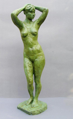 "Click here to view a larger image of ""Nude Standing"" and purchase details for this contemporary Chinese sculpture"